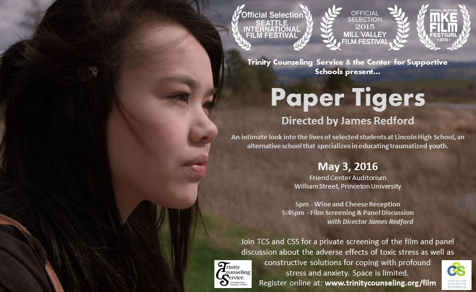 Paper Tigers Screening Trinity Counseling Service