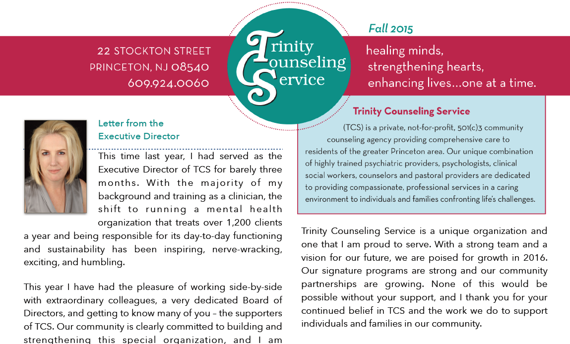 Hot Off the Presses…TCS' Fall Newsletter