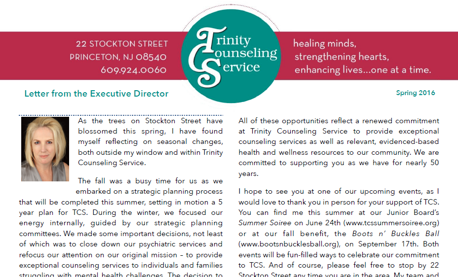 Hot Off the Presses…TCS' Spring Newsletter
