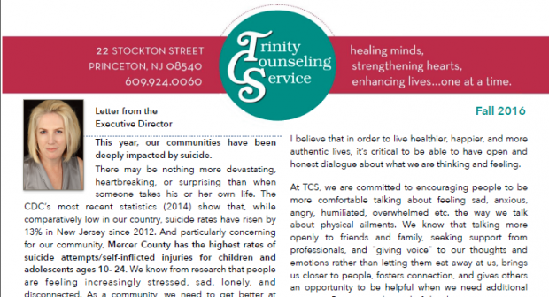 Hot Off the Presses…TCS' Fall 2016 Newsletter