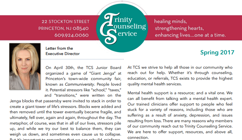 Spring/Summer 2017 Newsletter from TCS
